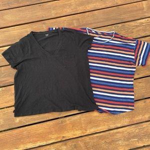 Madewell T Shirts (2) XXL Short Sleeve Whisper
